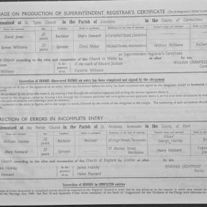 Marriage Register Instructions