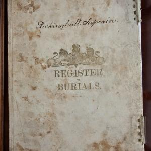 RS Burial Register cover