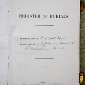 Page from Rickinghall Inferior burial register